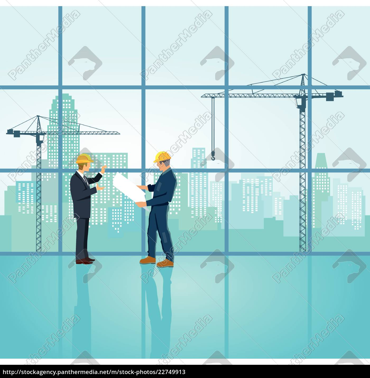 architect, and, engineer, plan, on, construction - 22749913