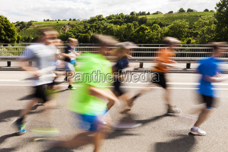 germany baden wurttemberg stuttgart runners in