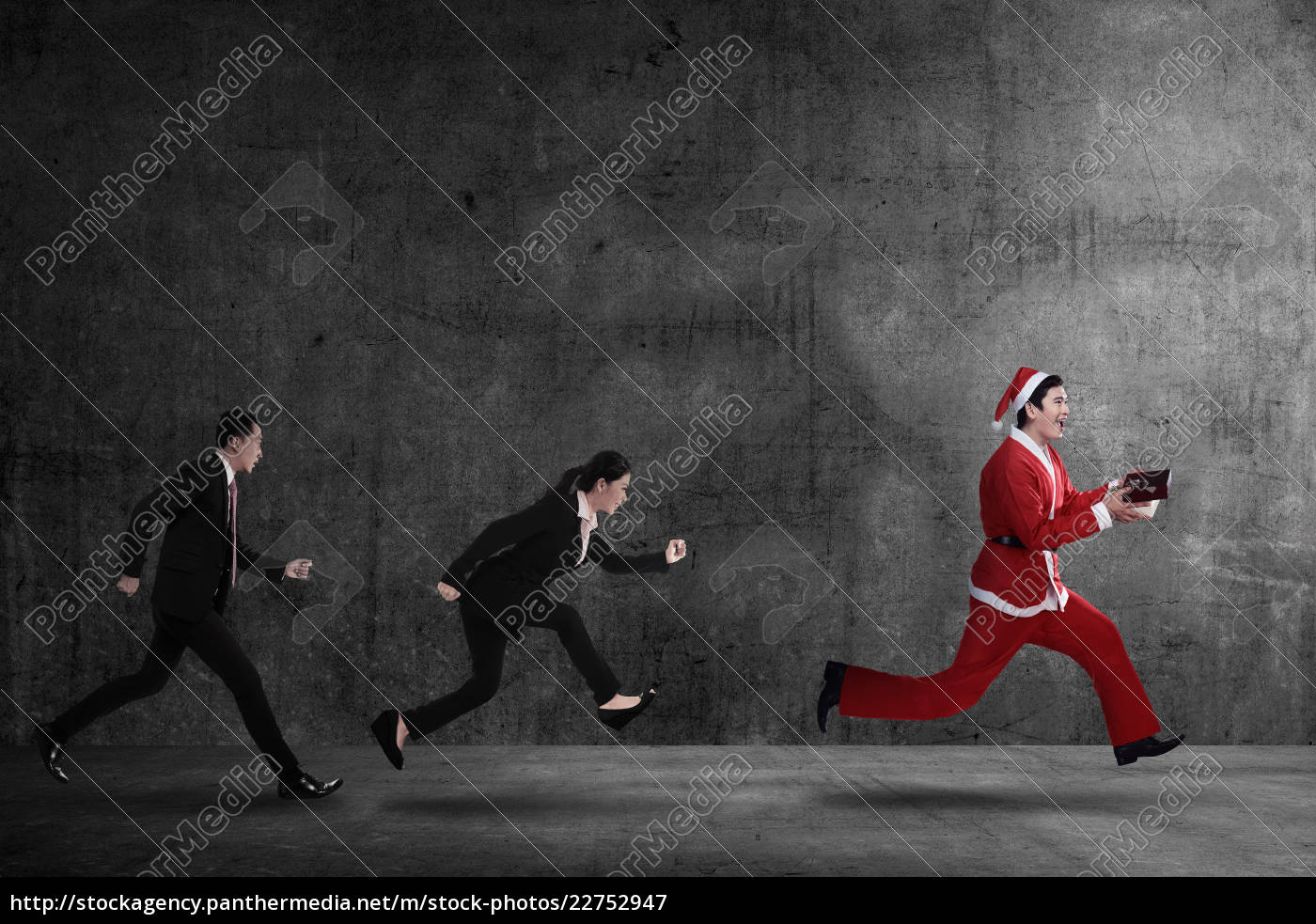 business, people, chasing, santa, claus - 22752947