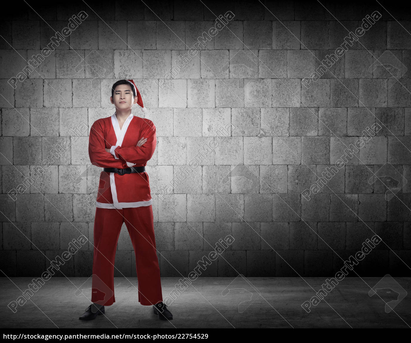 asian, man, in, santa, claus, costume - 22754529