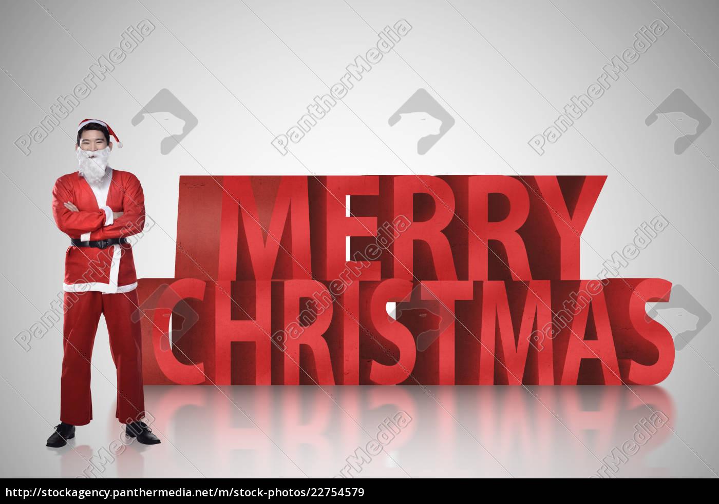 asian, man, in, santa, claus, costume - 22754579