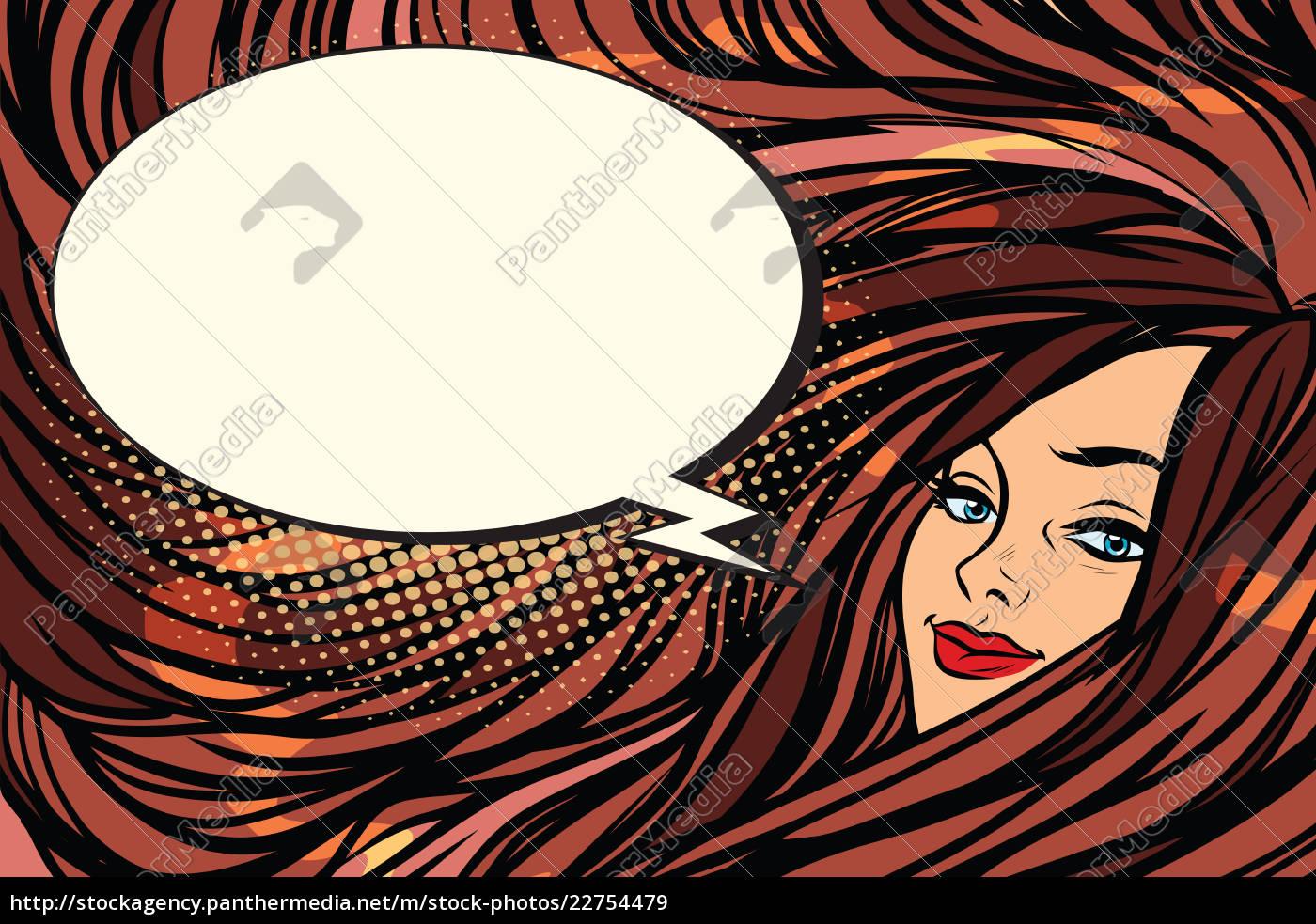 beautiful, girl, with, long, hair, , cartoon - 22754479