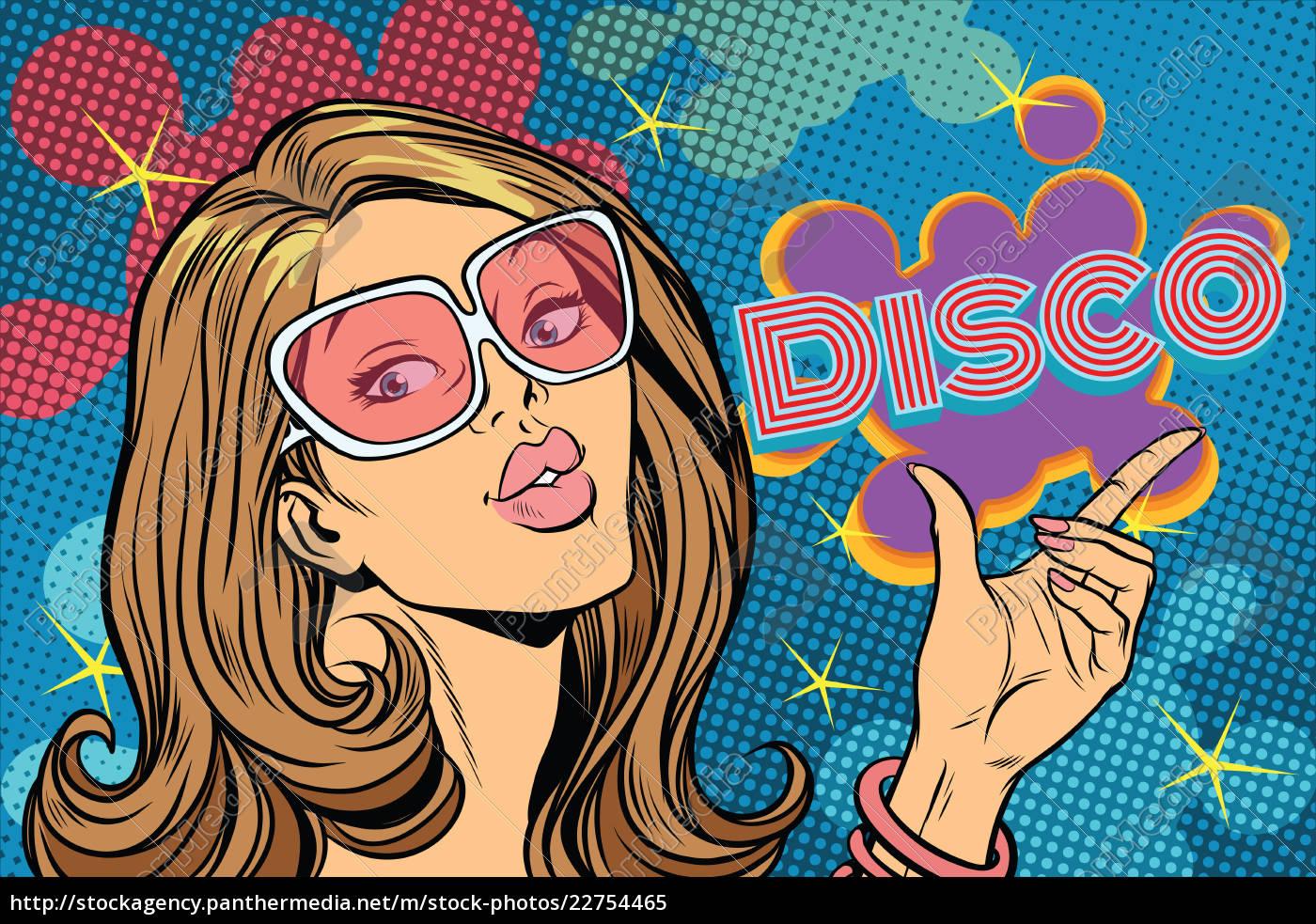 beautiful, woman, disco, , pop, art, style - 22754465