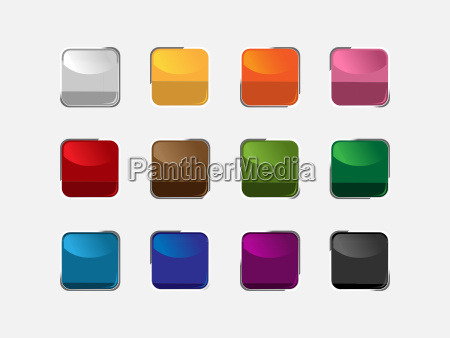 group of square buttons of different