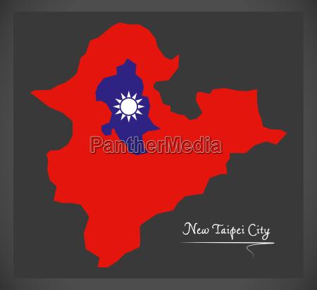 new taipei city taiwan map with