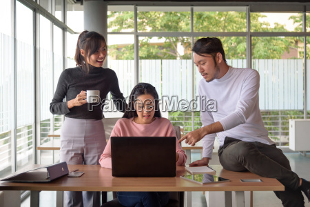 young, asian, businessman, working, with, team - 22762661