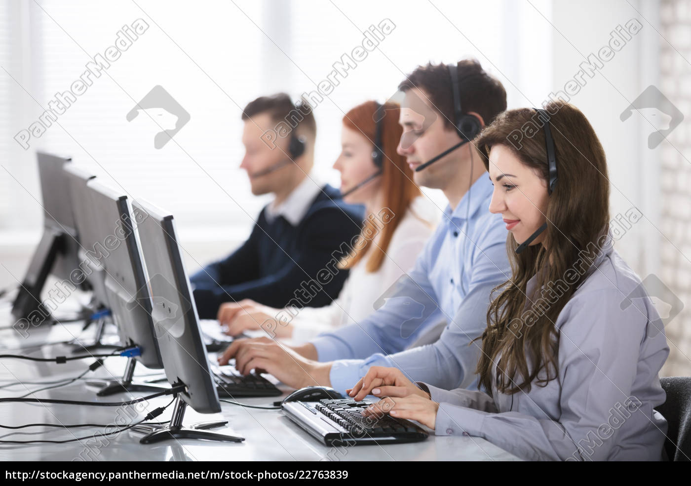 call, center, team, in, office - 22763839