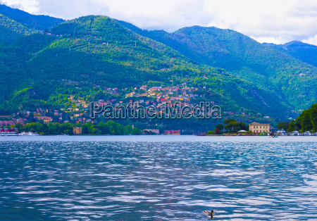 the view of como lake bellagio