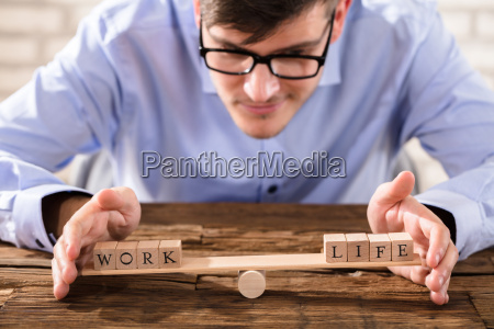 person protecting work life balance
