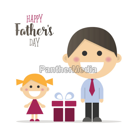 happy fathers day card with a