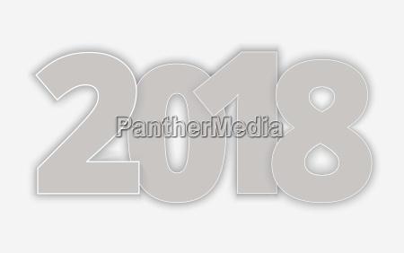 happy 2018 new year vector paper