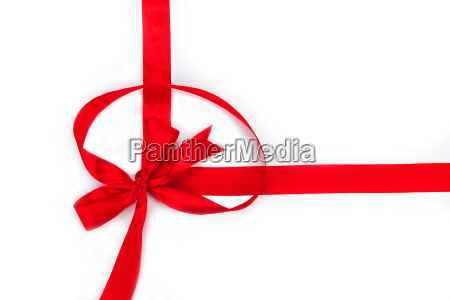 red ribbon by bow