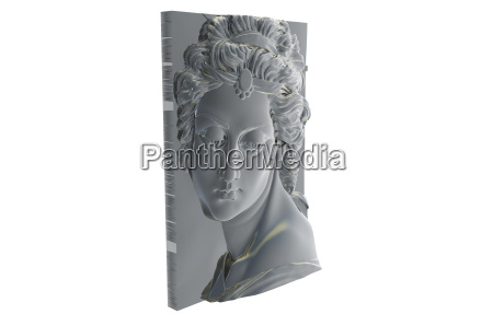 women portrait relief isolated