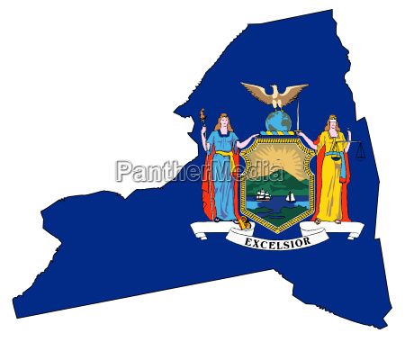 new york state outline map and