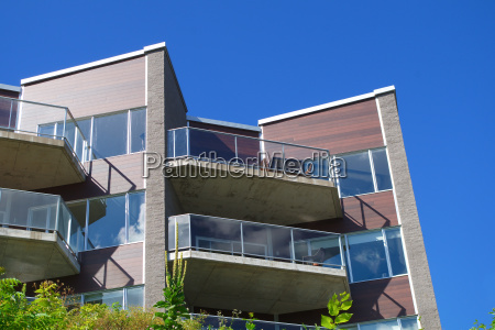 city glass balconies modern architecture residential