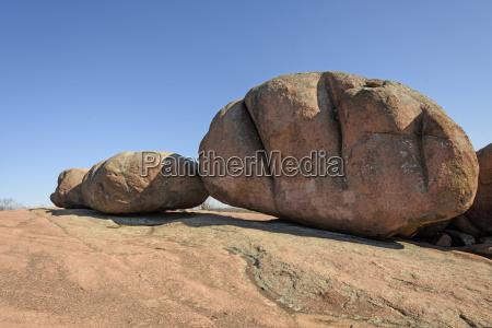 granite boulders on a granite outcrop