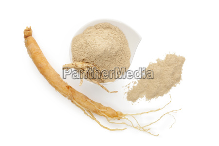 ginseng root ground powder from above