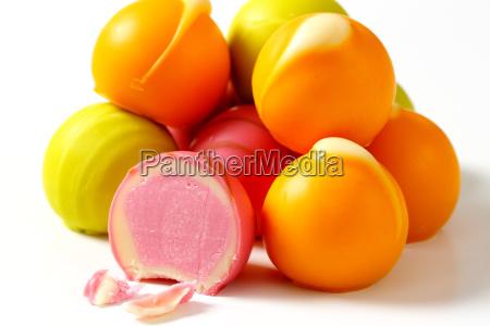 fruit flavored pralines