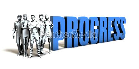progress business concept