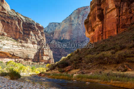 cliffs beside the virgin river