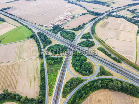 highway intersection aerial view