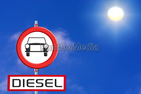 sign diesel cars banned from blue