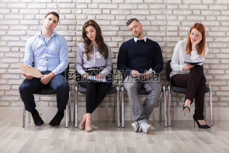 boredom applicants waiting for job interview