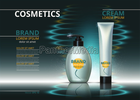 cosmetic package ads template skin care