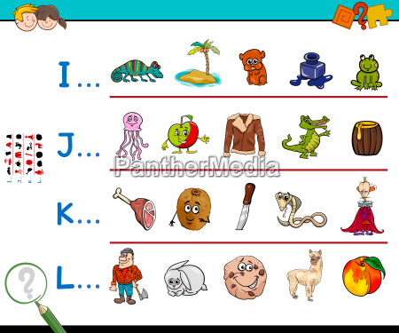 first letter of a word activity