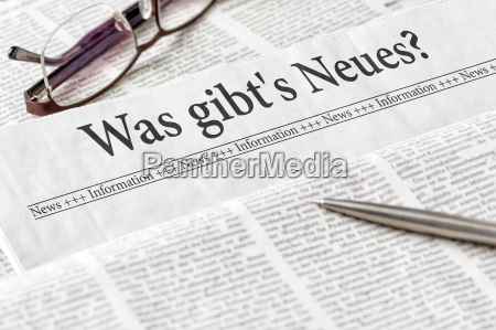 newspaper with the heading whats new