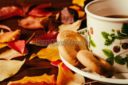 closeup of cup of tea with
