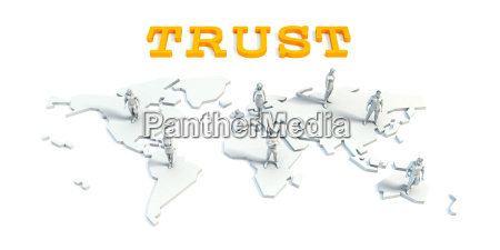 trust concept with business team
