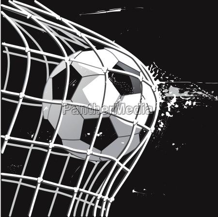soccer, goal, shot, on, goal, illustration - 22830425