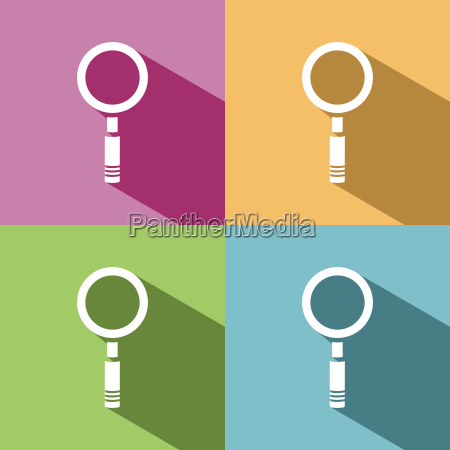 magnifying glass icon with shade on