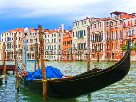 venice italy gondola on canal
