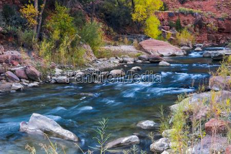 boulders in the virgin river