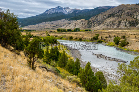 view of the yellowstone river in