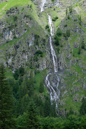waterfall in the allgaeu in the