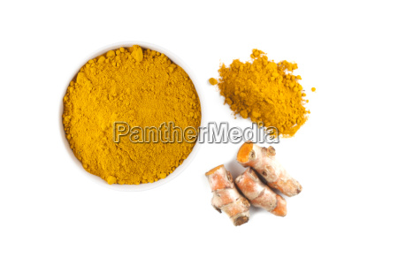 turmeric rhizome and turmeric powder