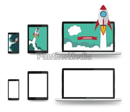 smartphone tablet notebook