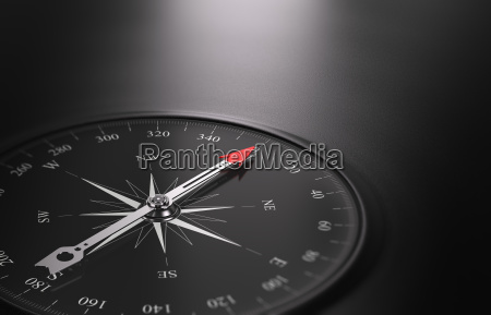 business orientation background compass on the