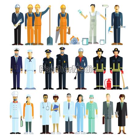 beskaeftigelse personale og medarbejdere illustration