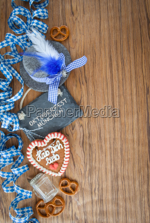 rustic background to the oktoberfest