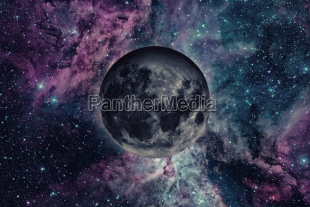 earths moon outer space background