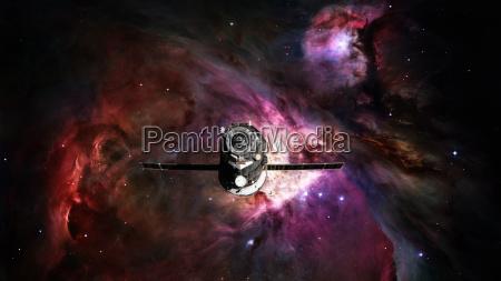 spacecraft progress orbiting the nebula
