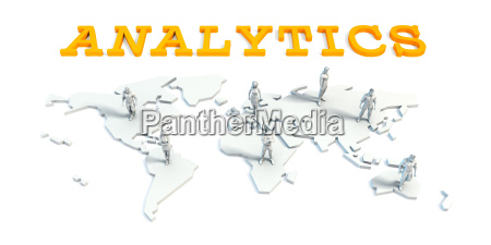 analytics concept with business team