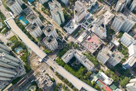 top view of hong kong building