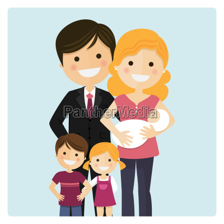 family with two children and a