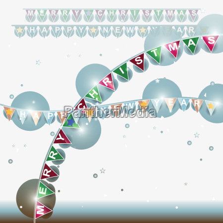 christmas and new year design outdoor