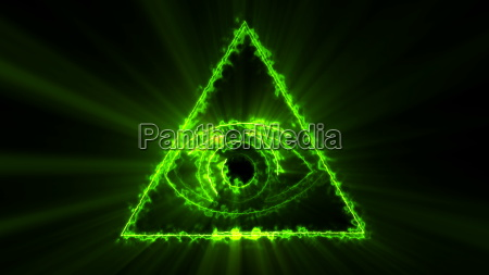 abstract background with the eye of